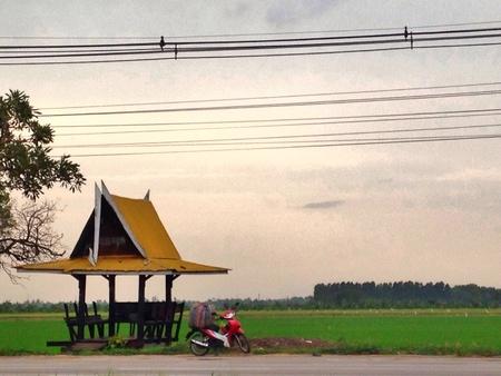 bus stop: Bus stop in Thailand.