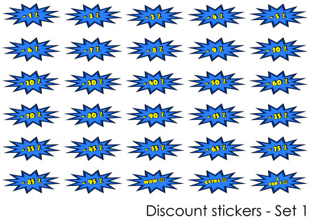 Discount stickers - Set 1, vector objects