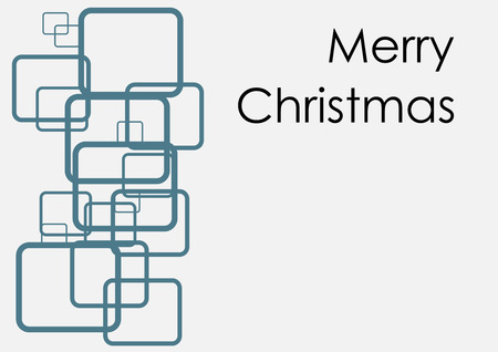 A modern and abstract Christmas card Illustration