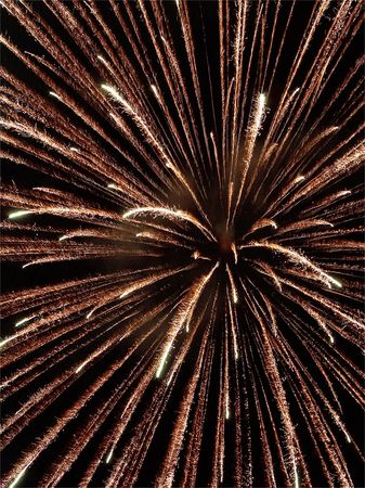 A look at the center of the fireworks Stock Photo