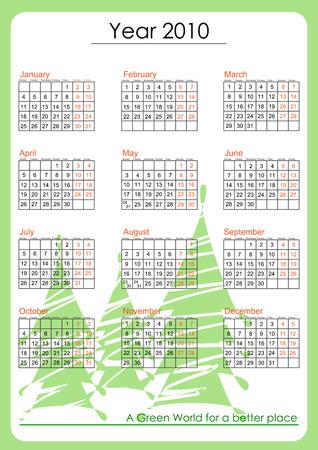 Green world calendar 2010