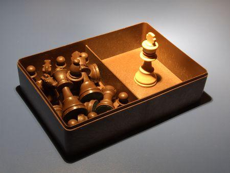 Chess - Black defeat  Stock Photo
