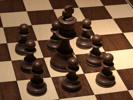 Chess - Black fortress  Stock Photo