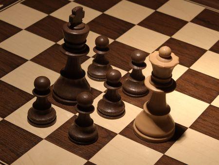 Chess - Black hard defense  photo
