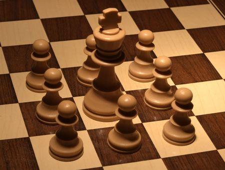 Chess - White fortress  Stock Photo
