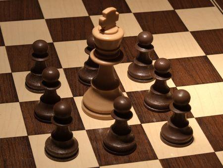 Chess - White King surrounded  photo