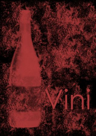 Wine list cover for red wines - Italian version