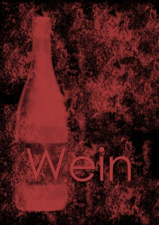 Wine list cover for red wines - German version Stock Photo