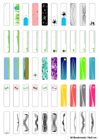 A collection of 50 Bookmarks 19x5 cm