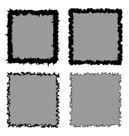 A set of four rough frames