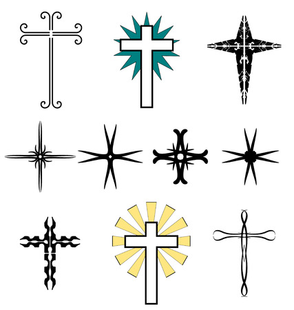 crucified: A set of tatoo - Holy Cross Illustration