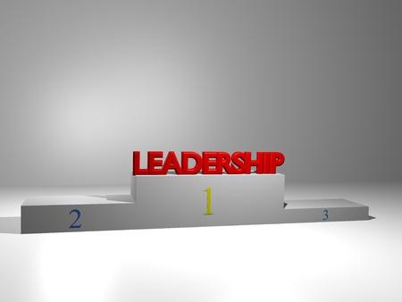 3D podium on white background with motivational slogan