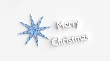 Christmas greetings with azure snowflake graphics