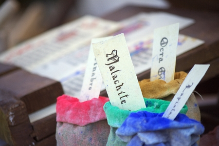 scribes: Bags of colours for amanuensis and scribes