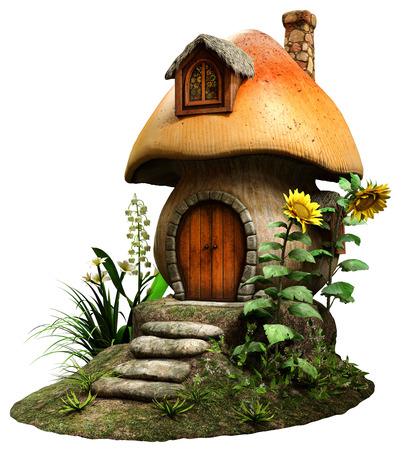 mushroom house: Fairy mushroom house Stock Photo