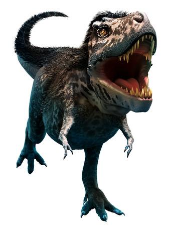 feathered: Tyrannosaurus rex Stock Photo