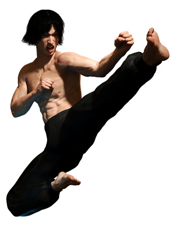 Kung fu martial artist Stock Photo