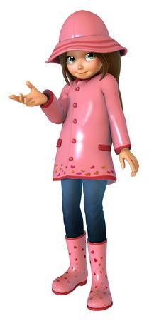 raincoat: Cute girl In raincoat