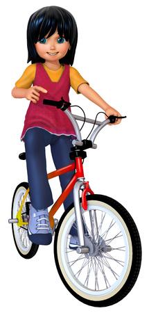 cute girl: Cute girl on bike