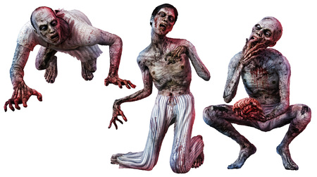 Zombie loonies illustration