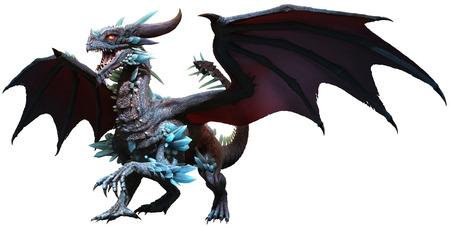 Blue dragon illustration Stock Photo