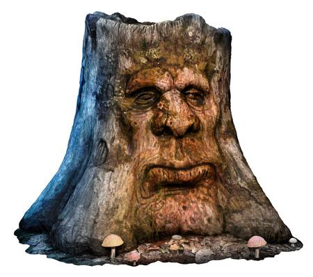 Ilustración de hombre de árbol de fantasía