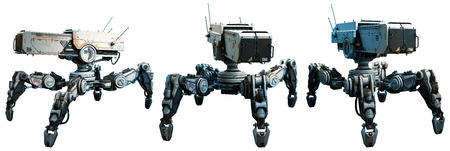 Ilustración de robots de combate Foto de archivo - 86231218