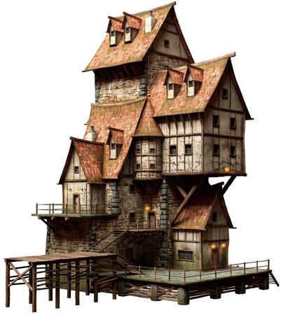 Large fantasy building Stockfoto