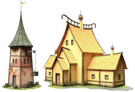 Bâtiments fantastiques Banque d'images