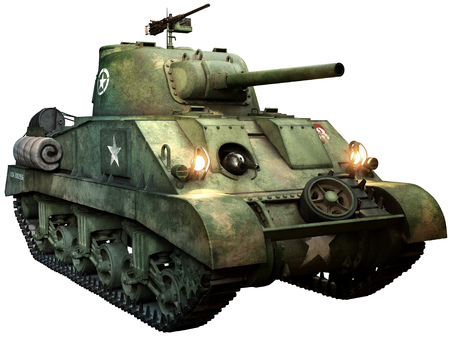 Sherman tank Banque d'images