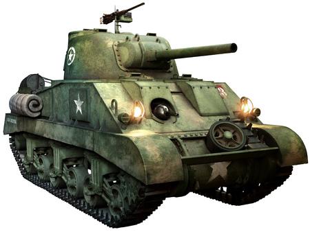 Sherman tank Standard-Bild