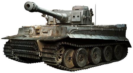 Tiger tank in steel grey Banque d'images