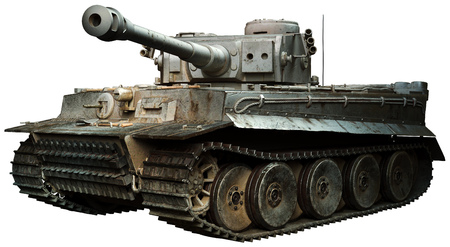 Tiger tank in steel grey Standard-Bild