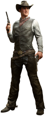 3D Cowboy with pistols