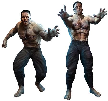 Laboratory monster 3D illustration