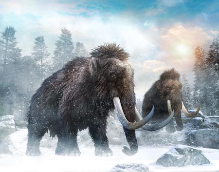 3D-Illustration der Mammutszene