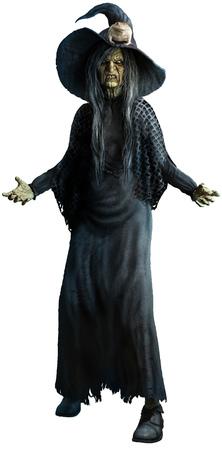 Witch 3D illustration
