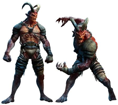Demons or devils 3D illustration