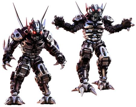 Robots 3D illustration