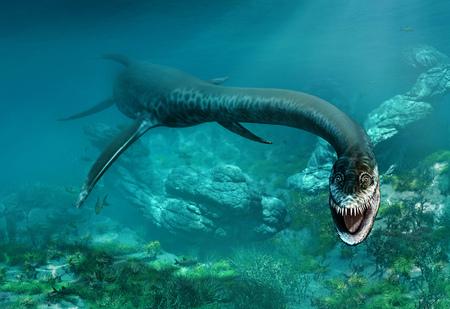 Styxosaurus 3D illustration 写真素材