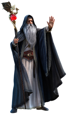 Wizard 3d illustration 写真素材