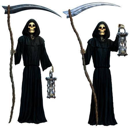 Grim reaper 3D illustration