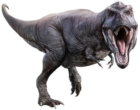 Ilustración 3D de tiranosaurio