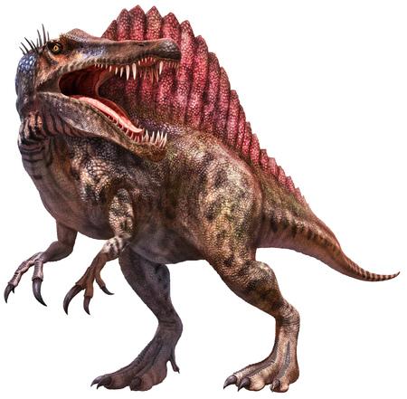 Spinosaurus dinosaur 3D illustration Stock Photo