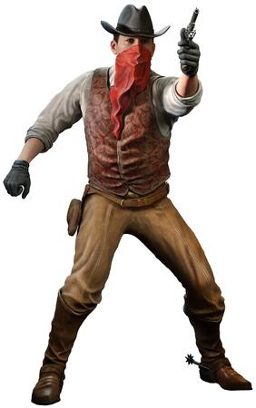 Cowboy 3D illustration