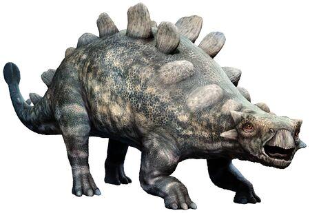 Crichtonsaurus from the Cretaceous era 3D illustration Stock Photo