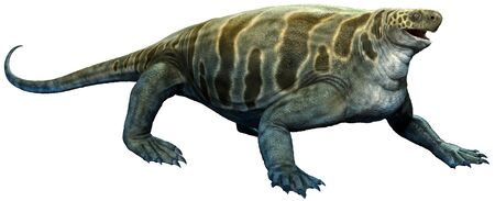 Cotylorhynchus from the Permian era 3D illustration Stock Photo