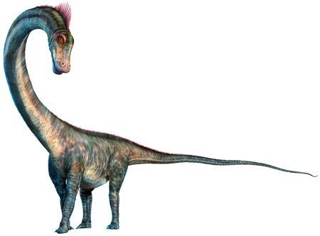 Barosaurus from the Jurassic era 3D illustration