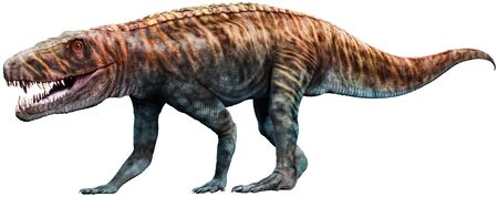 Batrachotomus from the Triassic era 3D illustration