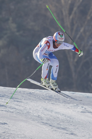 weber: Weber Ralph of SUI action on the slope during an AUDI Ski World Cup 201615 Exercise Day First at the Jeongsun Alphine Center in Jeongsun, South Korea.